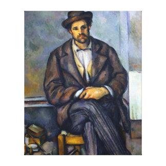 Paul Cezanne Seated Peasant Canvas Print