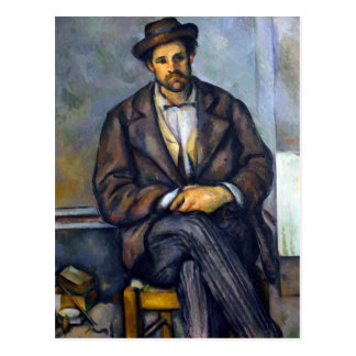 Paul Cezanne Seated Peasant Postcard