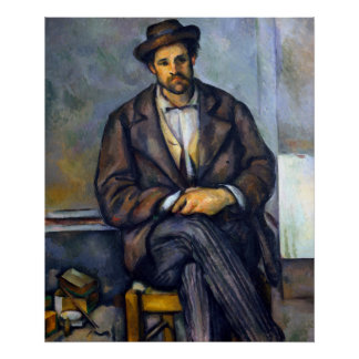 Paul Cezanne Seated Peasant Poster
