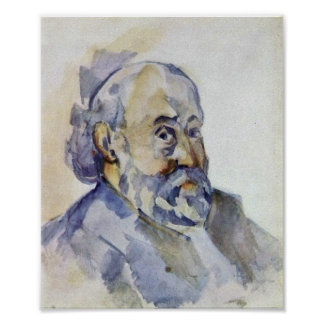 Paul Cezanne - self-portrait Poster