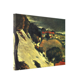 Paul Cezanne - snow melt in LEstaque Stretched Canvas Print