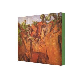 Paul Cezanne  Steinbruch Bibemus Canvas Print