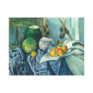 Paul Cezanne Still Life Apples and Primroses Canvas Print