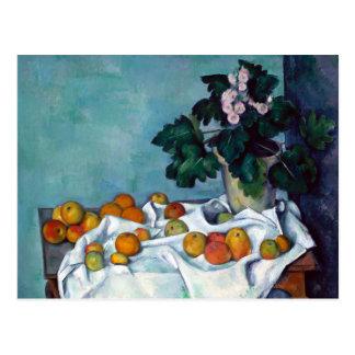Paul Cezanne Still Life Apples and Primroses Postcard