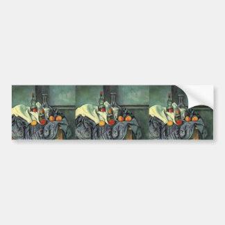 Paul Cezanne- Still life, peppermint bottle Bumper Sticker