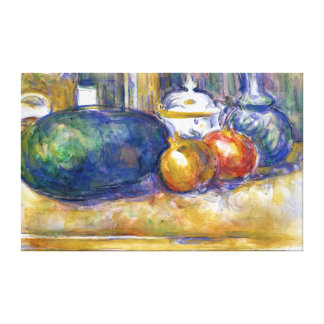 Paul Cezanne Still Life Watermelon Pomegranates Canvas Print