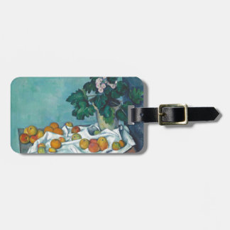 Paul Cézanne Still Life with Apples and Primroses Luggage Tag