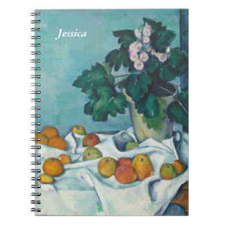 Paul Cézanne Still Life with Apples and Primroses Notebook