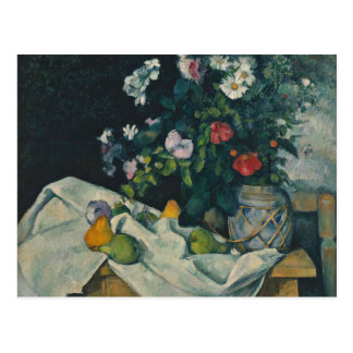 Paul Cezanne - Still Life with Flowers and Fruit Postcard