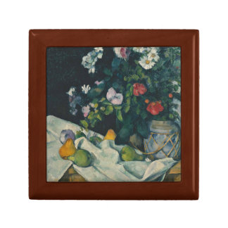Paul Cezanne - Still Life with Flowers and Fruit Small Square Gift Box