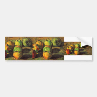 Paul Cezanne- Still life with seven apples Bumper Sticker