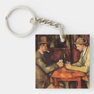 PAUL CEZANNE - The card players 1894 Key Ring