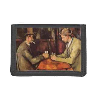 PAUL CEZANNE - The card players 1894 Trifold Wallet