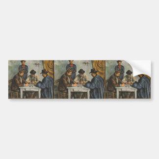 Paul Cezanne- The Card Players Bumper Sticker