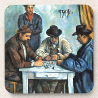 Paul Cezanne The Card Players Coaster