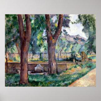 Paul Cezanne The Pool at the Jas de Bouffan Poster