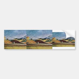 Paul Cezanne- The Railway Cutting Bumper Stickers