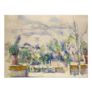 Paul Cezanne - The Terrace at the Garden Photo Print
