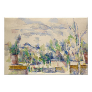 Paul Cezanne - The Terrace at the Garden Photograph