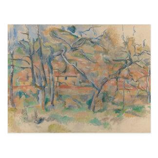 Paul Cezanne - Trær og hus, Provence Postcard