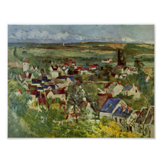 Paul Cezanne- View of Auvers Posters