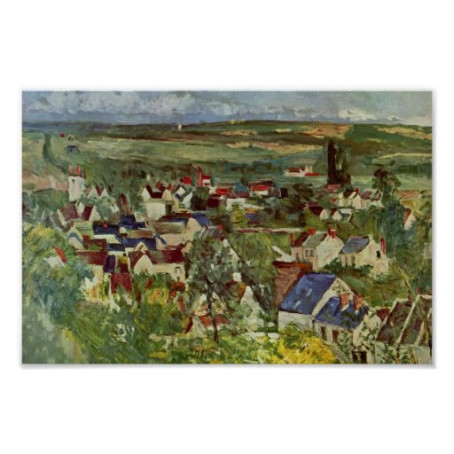 Paul Cezanne- View of Auvers Poster