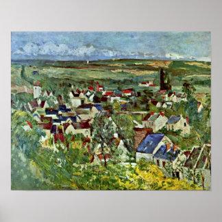Paul Cezanne - View of Auvers Print