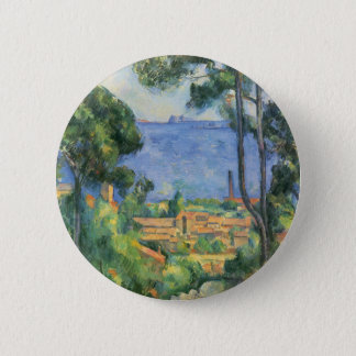 Paul Cezanne - View of L'Estaque and Chateaux d'If 6 Cm Round Badge
