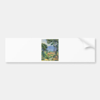 Paul Cezanne - View of L'Estaque and Chateaux d'If Bumper Sticker