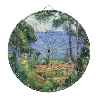 Paul Cezanne - View of L'Estaque and Chateaux d'If Dartboard