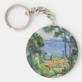 Paul Cezanne - View of L'Estaque and Chateaux d'If Key Ring