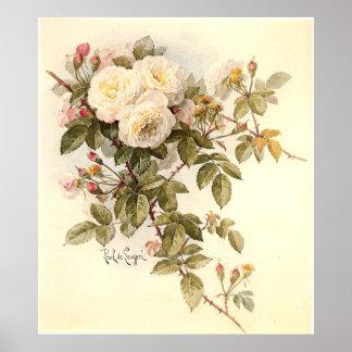 Paul De Longpré's Guinevere Roses Poster