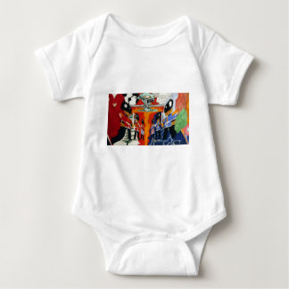 Paul Fullylove - Heart and Mind 300dpi 75cm x 40cm Baby Bodysuit
