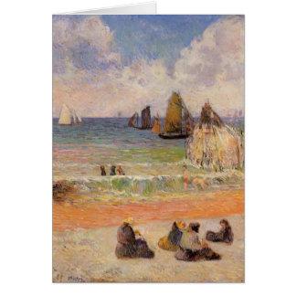 Paul Gauguin- Bathing, Dieppe Card