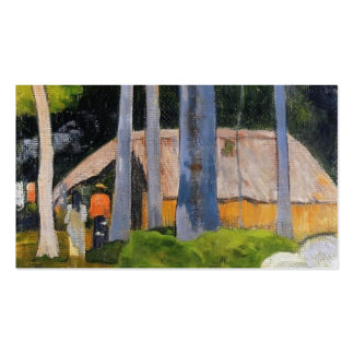 Paul Gauguin- Cabin under the trees Business Card Templates
