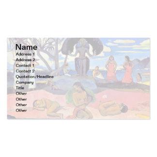 Paul Gauguin - Day of the Gods Business Card Template