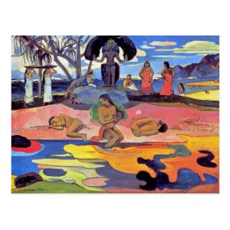 Paul Gauguin - Day of the Gods - Fine Art Painting Postcard