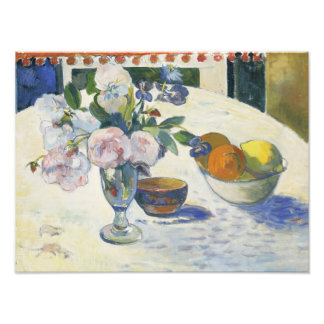 Paul Gauguin - Flowers and a Bowl of Fruit Art Photo