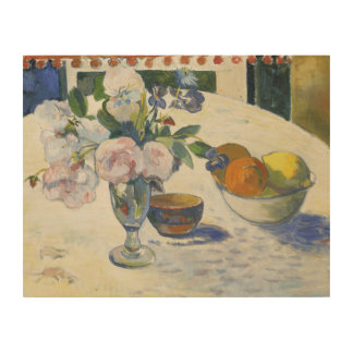 Paul Gauguin - Flowers and a Bowl of Fruit Wood Prints