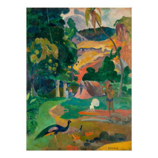 Paul Gauguin Matamoe, Landscape with Peacocks Poster