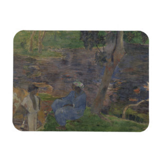 Paul Gauguin - On the Shore of the Lake Rectangular Photo Magnet