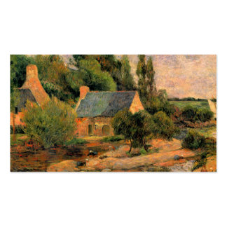 Paul Gauguin painting Washerwomen at Pont-Aven art Double-Sided Standard Business Cards (Pack Of 100)