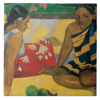 Paul Gauguin - Parau Api. What News Large Square Tile
