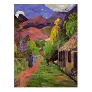 Paul Gauguin- Road in Tahiti Postcard
