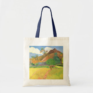 Paul Gauguin, Tahitian Landscape, Mountains Tahiti Budget Tote Bag