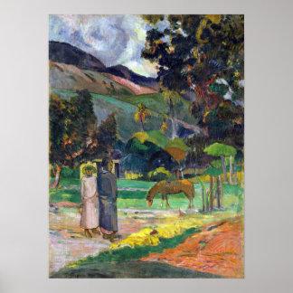 Paul Gauguin Tahitian Landscape Poster