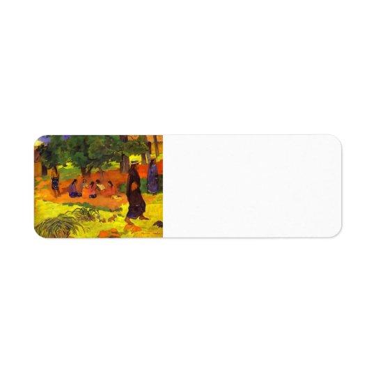 Paul Gauguin- Taperaa Mahana Return Address Label