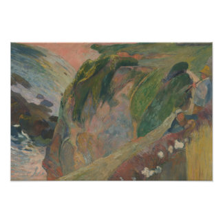 Paul Gauguin - The Flageolet Player on the Cliff Photo Print