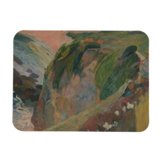 Paul Gauguin - The Flageolet Player on the Cliff Rectangular Photo Magnet