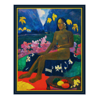 Paul Gauguin The Seed of the Areoi Poster